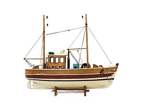 Kutter Fischerboot Fischkutter Holzschiff Schiff Schiffsmodell 45cm kein Bausatz