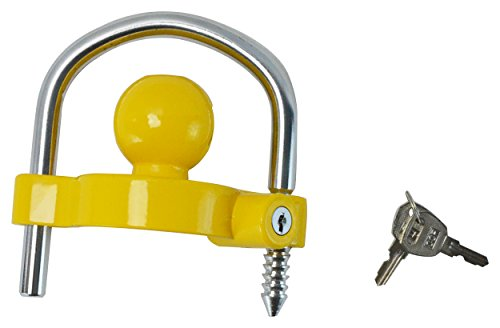 GoTow Universal Coupler Trailer Hitch Security Lock - Fits 1 7/8', 2', and 2 5/16' Ball Mounts