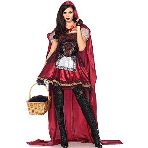 ZzheHou Disfraces De Halloween Disfraz De Halloween For Mujer Capa Caperucita Roja Disfraz Cosplay Fiesta Mascarada Disfraz Sexy