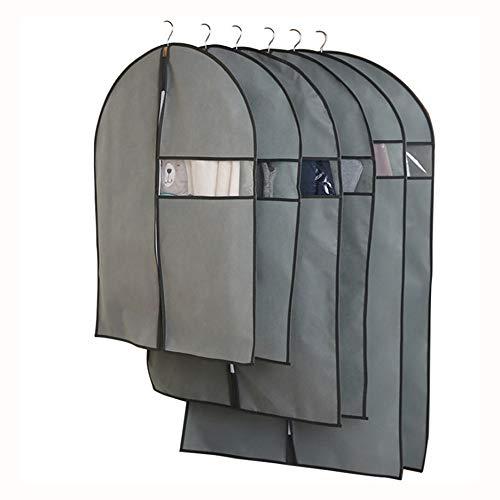 Family Needs 10PCS / LOT huishoudelijke hangende kleren laag pak vooruitziend non-woven doek stofzak kleding dekking opbergtas (Color : Beige, Size : Large)