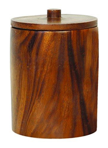 Unleashed Life Anderson Pot à friandises Acacia 17,1 x 17,1 x 22,9 cm 1,4 kg