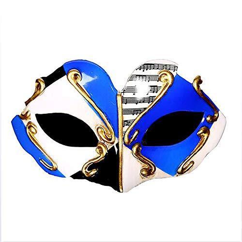 YGD Masker, Prom Masker, Halloween Maskerade Masker/Platte Hoofd Half Gezicht Hard Kunststof Children's Masker/Vakantie Masker, A