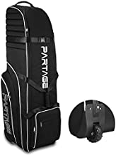Partage Golf Travel Bag with Wheels, Golf Travel Case for Airlines, 900D Heavy Duty Oxford -Black