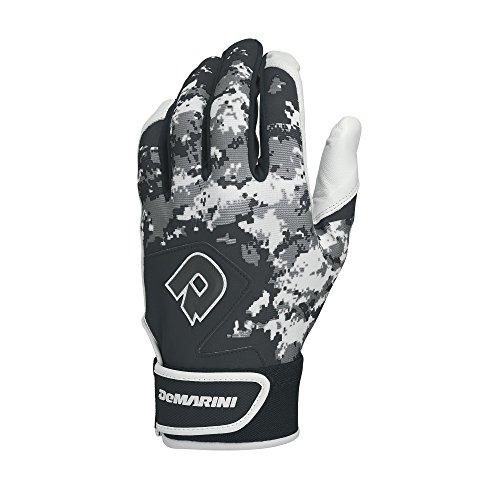 DeMarini Digi Camo II Batting Gloves, Black, Large, Pair