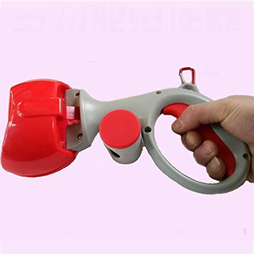 Chien Pooper Scooper, Pelle à Chien Portable 2 en 1, Ramasse Nettoyage pour Chiens et Chats - Rouge - 28x12cm