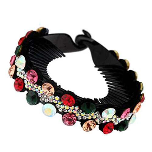 Mesdames Elegant Rhinestones Hair Bun Décor Ponytail Clip Hair Accessories, No.2