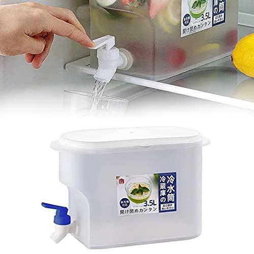 Jarra De Agua De 3,5 L con Grifo Jarra De Jugo De Limón, Refrigerador Doméstico Cubo De Agua Fría Tetera De Fruta Jugo De Cubo De Limonada, Jarra De Jugo Familiar De Gran Capacidad (Blue)