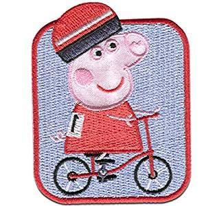 Peppa Pig Bicicleta Parche Termoadhesivo 5,8 x 7,4