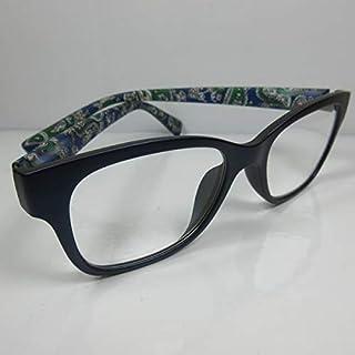 KOST grote leesbril +1,0 blauw voor dames en heren leeshulp flexibele beugel