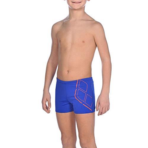 arena Jungen Badeshorts Essentials Badehose, neon blue-Nectarine, 140