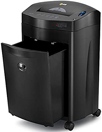 $887 Get 15-Sheet Micro Cut Heavy Duty Paper Shredder, Home or Office,60-Minute Continuous Running Time, Destroy Credit Cards, P-4 High Security (4mm×40mm) and 55 dB Quiet Operation, 27-Litre Pull-Out Bin