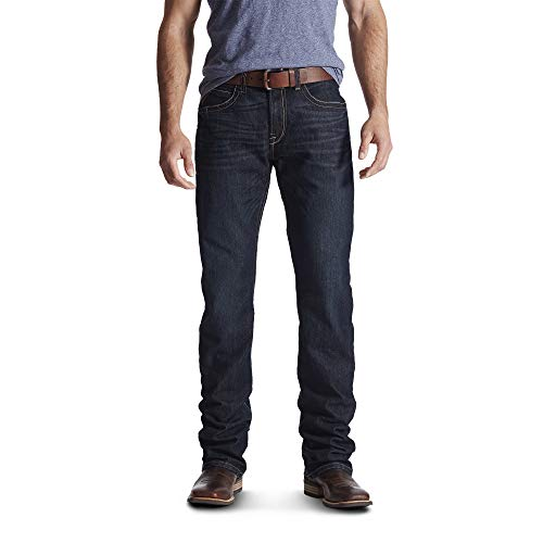 Ariat Men's Rebar M4 Low Rise DuraStretch Boot Cut Jean, Bodie, 29 x 34