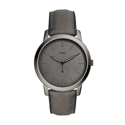 Fossil Herren Analog Quarz Smart Watch Armbanduhr mit Leder Armband FS5445