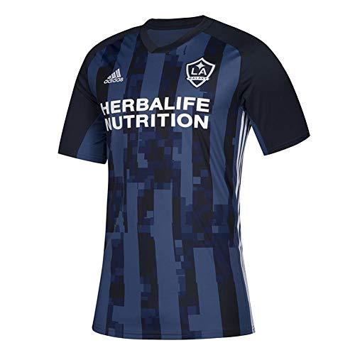 adidas LA Galaxy MLS Herren Trikot Blau Offizielles Climalite Team Replica Jersey, Herren, blau, Large