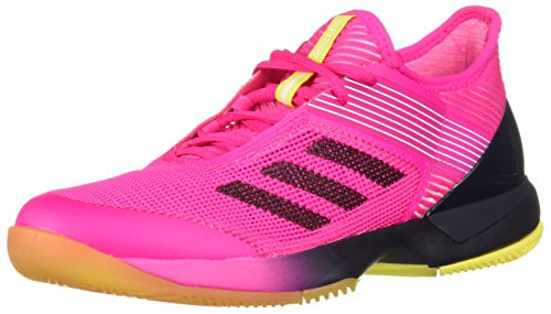 adidas Women's Adizero Ubersonic 3 Tennis Shoe, Shock Pink/Legend Ink/White, 11.5 M US