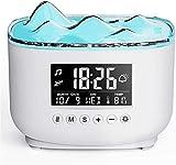Diffusore di aromi con sveglia digitale, diffusore da 300 ml per oli essenziali, diffusore di aromaterapia senza BPA con modalità nebbia regolabile, lampada aromatica con spegnimento automatico per