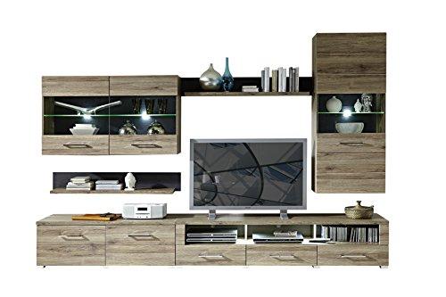 Peter DLZZ631080 Wohnprogramm, Holz, braun, 49 x 300 x 203 cm