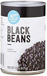 Amazon Brand - Happy Belly Black Beans, 15 Ounce