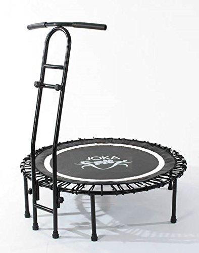 Joka fit, tappeto elastico fitness con manubrio 'Cacau', mini trampolino divertente con sospensione in corda, includeDVD per allenamento (lingua italiana non garantita), 15297, bianco