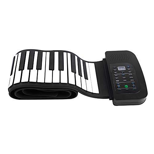 Tastiera Portatile a 88 Tasti Tastiera Piano Flessibile In Silicone Tastiera Pieghevole Pieghevole Piano Pieghevole a Mano Con Pedale Sustain Batteria