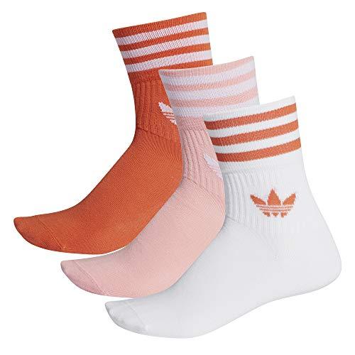 adidas Mid Cut Crew 3PP Socks Glory Amber Glory Pink White 39-42