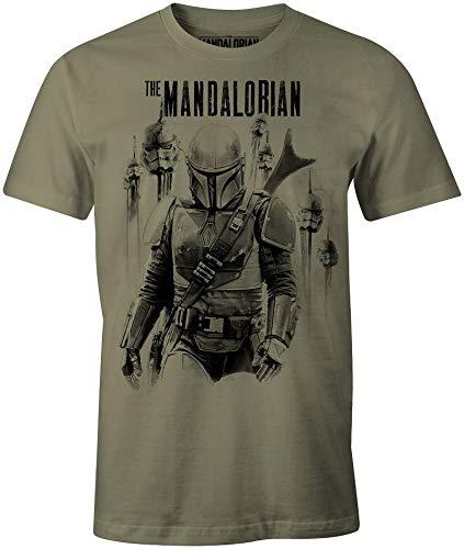 THE MANDALORIAN t-Shirt Camiseta, Caqui, S para Hombre
