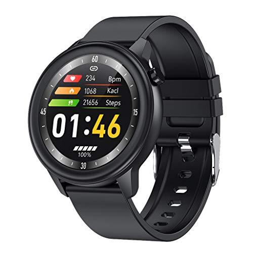 APCHY Reloj Inteligente Smartwatch para Hombres,Rastreadores De Actividad De Monitoreo De La Temperatura Corporal,Frecuencia Cardíaca,Presión Arterial, Oxígeno En La Sangre,D