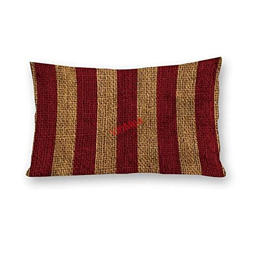 VinMea Fundas de almohada lumbar, de algodón, para sofá, hogar, oficina, decoración, 30,5 x 50,8 cm