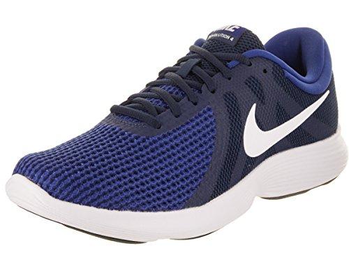Nike Men's Revolution 4 M.Navy/Wht-Deep R.Blue Running Shoes-8 UK (42.5 EU) (9 US) (908988-414)