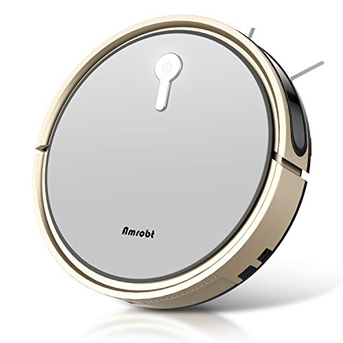 Robot Vacuum and Mop, Amrobt Robotic Vacuum Cleaner with Wi-Fi Connectivity/Remote Control, 1600Pa Power Suction, Self-Charging Vacuum for Pet Hair, Carpet & All Types of Floor Dining Features Kitchen Robotic Vacuums