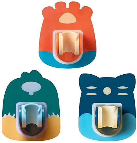 Feilium Punch-Free Fixed Shower Nozzle, 3 Pcs Shower Head Punch-Free Bracket, Self-Adhesive Shower Head Bracket, Shower Head Holder Wall Mount Adjustable
