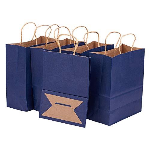 BENECREAT 30 Pack Bolsas de Regalo de Papel Kraft con Asas Compras,...