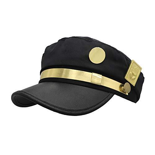 Meelanz Cosplay Hat Emblem Visored Black Baseball Cap Driver Hat Props Headwear (Golden)