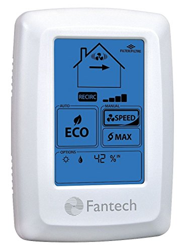 Fantech ECO-Touch Electronic Programmable Wall Control manual or automatic ECO operation mode