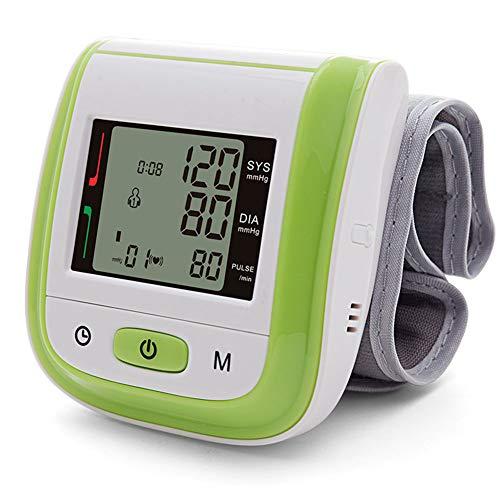 Blutdruckmessgerät Am Handgelenk, Vollautomatische Blutdruck- Und Pulsmessung, BP-Handgelenkmanschette Vollautomatisch Genaue Und Schnelle Ablesung Einfaches Anlegen,Grün