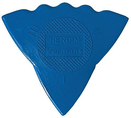 Herdim Plektrum/Pick 3-Stärken, blau, Stärke stark, I = weich, II - mittel, III - hart, 12 Stück