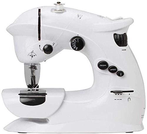 ATRNA beweegbare naaimachine, kleine naaimachine, met instelbare druk, beweegbare elektrische naaimachine gebruikt As Cloth wit