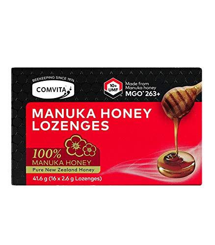 Comvita Pure Manuka Honey Lozenges - UMF 10+, MGO 263+ (Pack of 8 Lozenges)