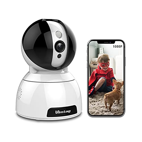 1080P FHD WiFi Pet Camera, Vimtag Baby Monitor Dog Cam Surveillance with Pan/Tilt/Zoom, Motion Detection, 2 Way Audio…