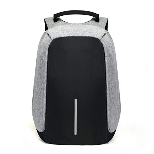 Lili 15 Inch Laptop Backpack USB Charging Anti Theft Backpack Men Travel Backpack Waterproof School Bag Male,Gray
