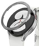 Ringke Bezel Styling Compatibile con Cover Samsung Galaxy Watch 4 40mm, Ghiera Anti Graffio Acciaio Inossidabile Adesiva Accessorio - Silver (40-40)