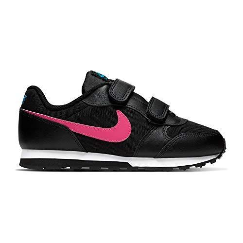 Nike Boys MD Runner 2 (PS) Pre-Sch Laufschuh, Black/Blue Fury/Purple Nebula/Watermelon, 34 EU
