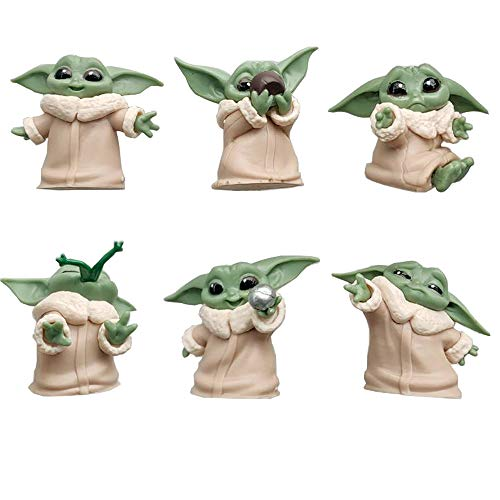 Star Wars Baby Yoda Doll from The Mandalorian The Bounty Collection The Child 6 Pack 2.2-Inch Baby Yoda Toys for Boys,Baby Yoda Gifts for Men for Women