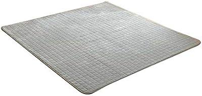 ホットカーペット対応 フランネルキルトラグ 無地 約200×240cm グレー 4959289