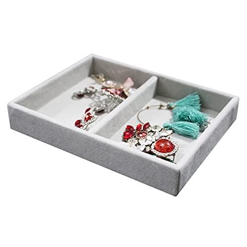 Caja de almacenamiento de joyería fácil de usar Pequeño anillo de la bandeja de la bandeja Collar de almacenamiento Organizador de almacenamiento Pulsera Reloj de pantalla Cosas de la pantalla Acabado