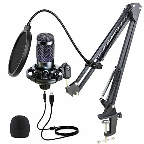 USB Condenser Podcast Recording Microphone: Mic...