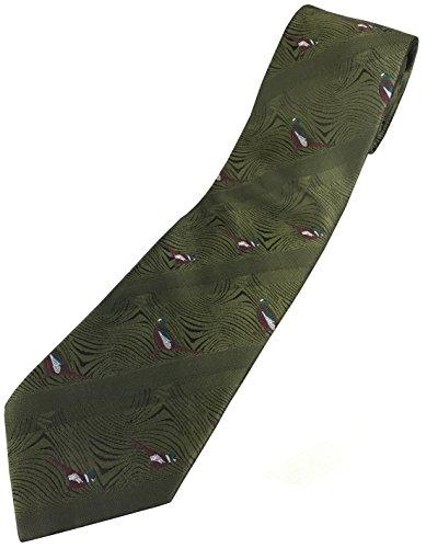 Polyester Krawatte mit Fasanlogo Jagd Wanderen Schießen Land