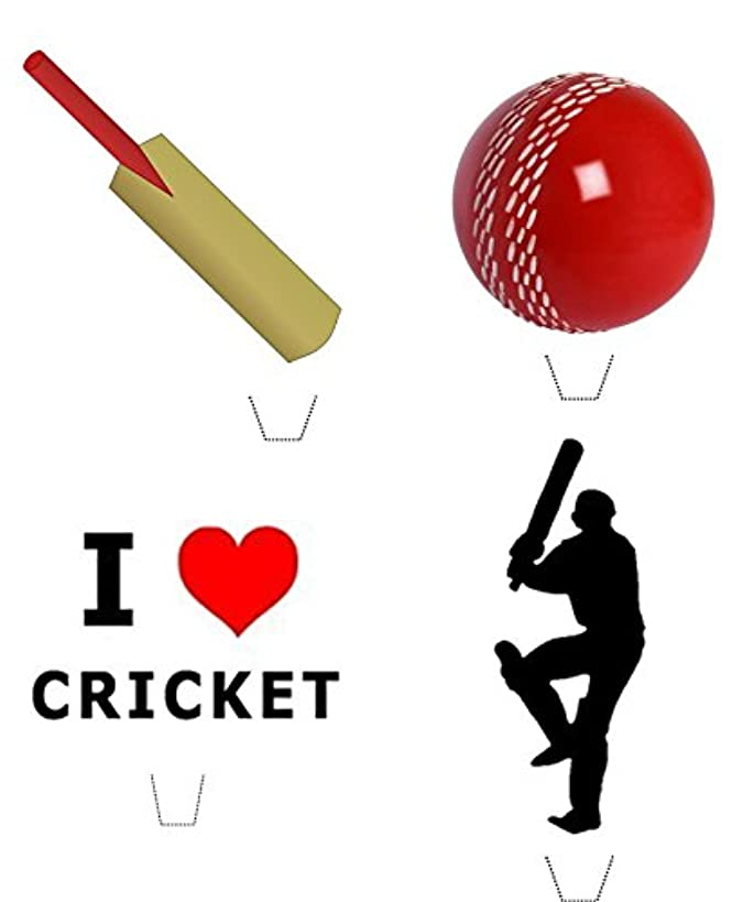 Novelty Cricket Mix 12 Edible Stand up wafer paper cake toppers (5 - 10 BUSINESS DAYS DELIVERY FROM UK)