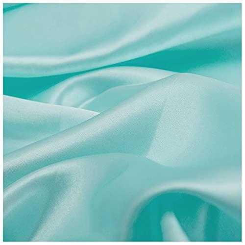 3-teiliges Set Satinstoff Fruchtgrün Heller Champagner Wasserblau Monochromer Satin Satin-Satin Für Satin-Pyjamas Nachtmützen Futtertuch Hochzeitsfeier 1,5 M Breite Ra(Size:1.5M*1M,Color:Fruchtgrün)
