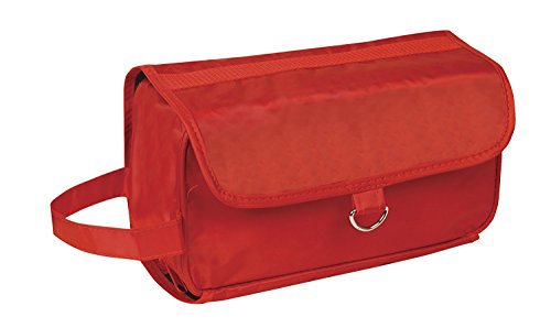 Hanging Toiletry Cosmetics Travel Bag, Red